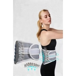 New Design Nanometer Self- Heating Magnetic Therapy Wheel Traction Waist Support Massage Belt.
