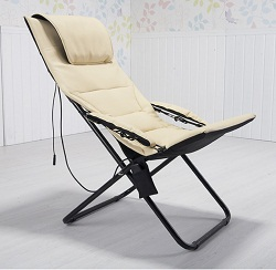 New Style Electric Foldable Mini Leisure Massage Chair Shiatsu Beach Chair With Adjustable Angle