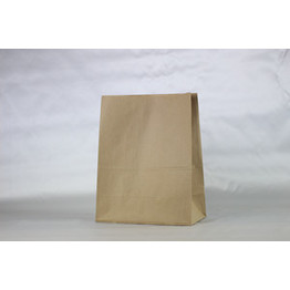 Bolsa de papel kraft marrón sos take away
