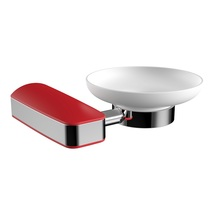 H00204G1403 Delux Red Oval Soap Dish Holder  bathroom accessories