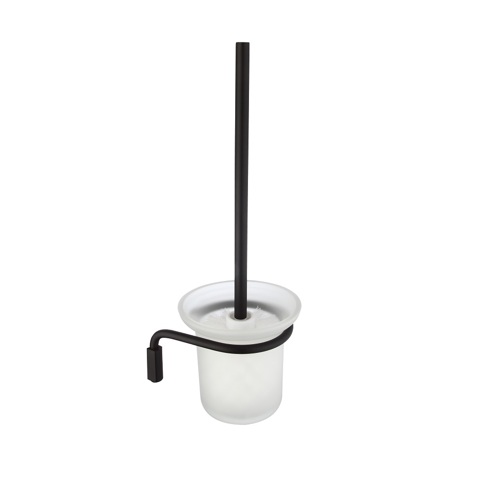 H003043990ba Matte Black Round Brush Holder Bathroom