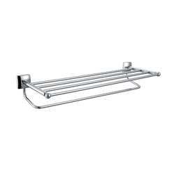 H003046630CP Chrome towel Bar, Wall Mounted, Solid Brass bathroom accessories