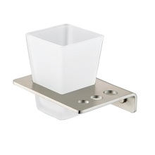 H003043871SP Brushed Nickel Square SingleTumbler Holder bathroom accessories