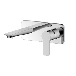 H00402844012 Chrome 1-Handle Wall-mounted Bathroom Sink Faucet