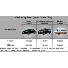 Osaka Chartered Car price