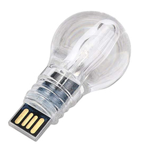 Light Bulb shape crystal usb stick