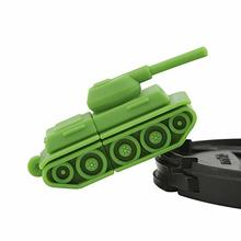 Novelty tank shaped, soft PVC rubber flash drive