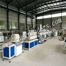 PE Carbon Spiral Reinforcing Pipe Production Line