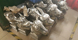 Customized stainless steel 12 Zodiac heads completed