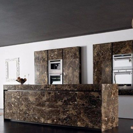 Dark Emperador Brown Vanity Top Marble Kitchen Countertop