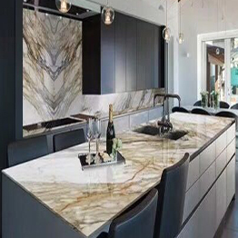 Italian Statuary White Marble Kitchen Island Kitchen Countertops