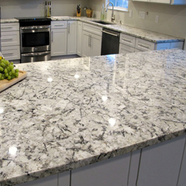 Natural Stone Brazilian Ice Blue Granite Kitchen Table Top