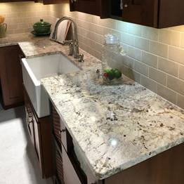 Alaska White  Granite Kitchen Countertops Island Countertops