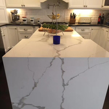 Artificial Stone Quartz Calacatta White Kitchen Countertops