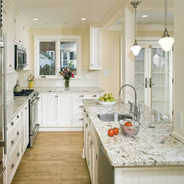 Bianco Romano White Granite  Kitchen Countertops Island Tops