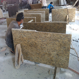 Giallo Santa Cecilia Brazil Granite Countertops for Kitchen