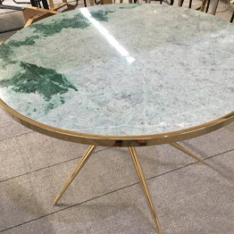 Snow Green Marble Round Coffee Table Bar Top Countertop Vanitytop