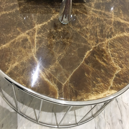 Coffee Brown Onyx Round Coffee Table Bar Top Wholesale