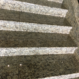 Giallo Santa Cecilia Dark Granite Indoor and Outdoor Stair Step