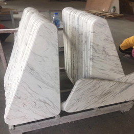 Volax White Marble Triangle Coffee Table Bar Top Wholesale