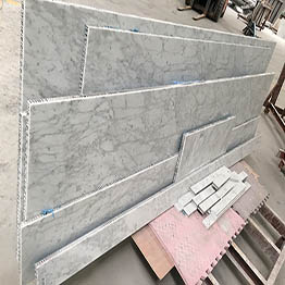 Bianco Carrara Marble Laminated Aluminum Honeycomb