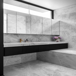Grigio Lais Marble Bathroom Vanity Tops Walling Flooring Coping