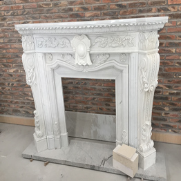 Ariston White Marble Indoor Stone Fireplace Carving