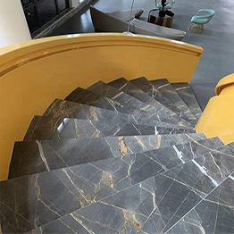 Italian Dior Gold Marble Dior Gray Marble Interior Stair Step Indoor Stairs