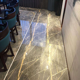 Italian Dior Gold Marble Dior Gray Marble Top Floor Wall Cladding Application