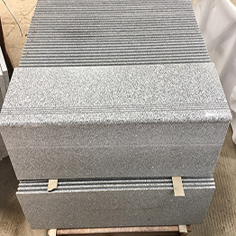 New G603 Crystal White Sesame White Bianco Crystal China Granite Slab Panel Stair Step Riser