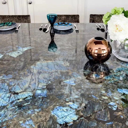 Labradorite Blue Luxury Granite Bar Top Commercial Counter