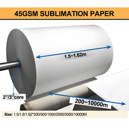 Vision Jumbo roll 45gsm paper sublimation  transfer paper