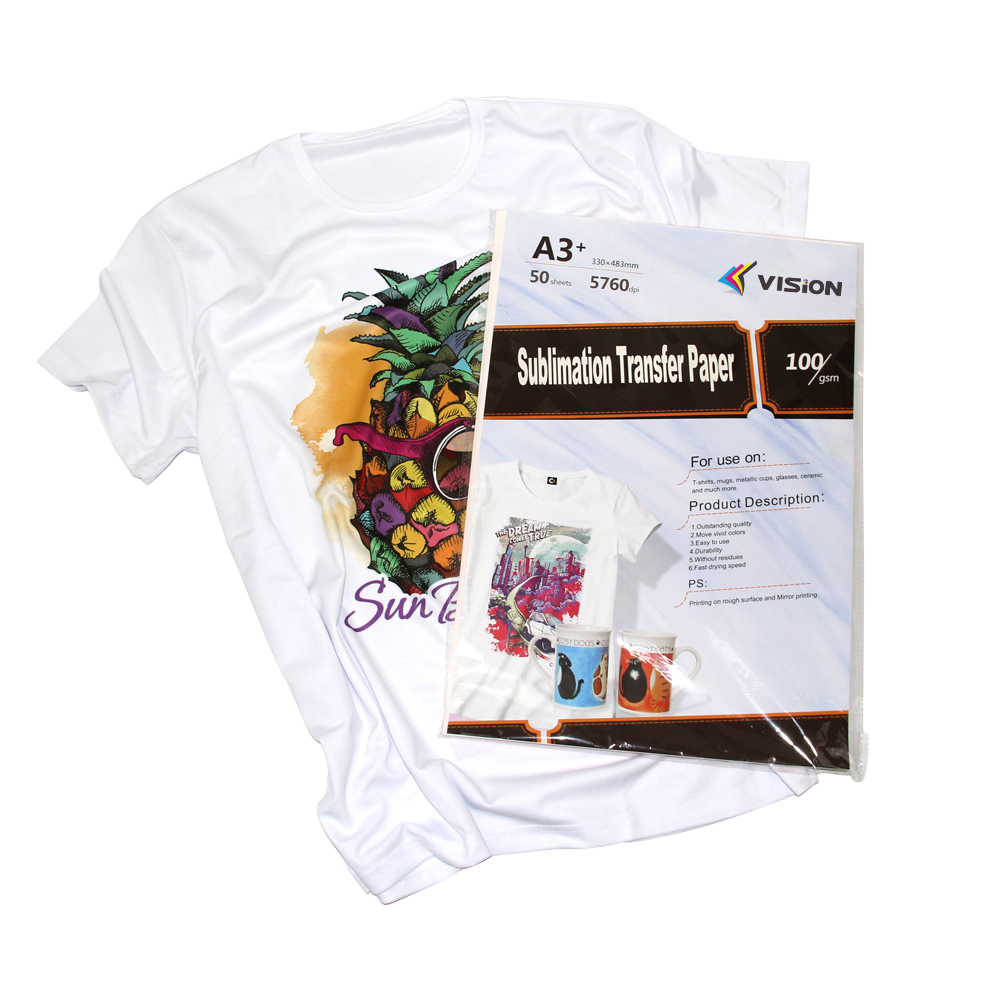 100gsm  A3+ size sublimation paper