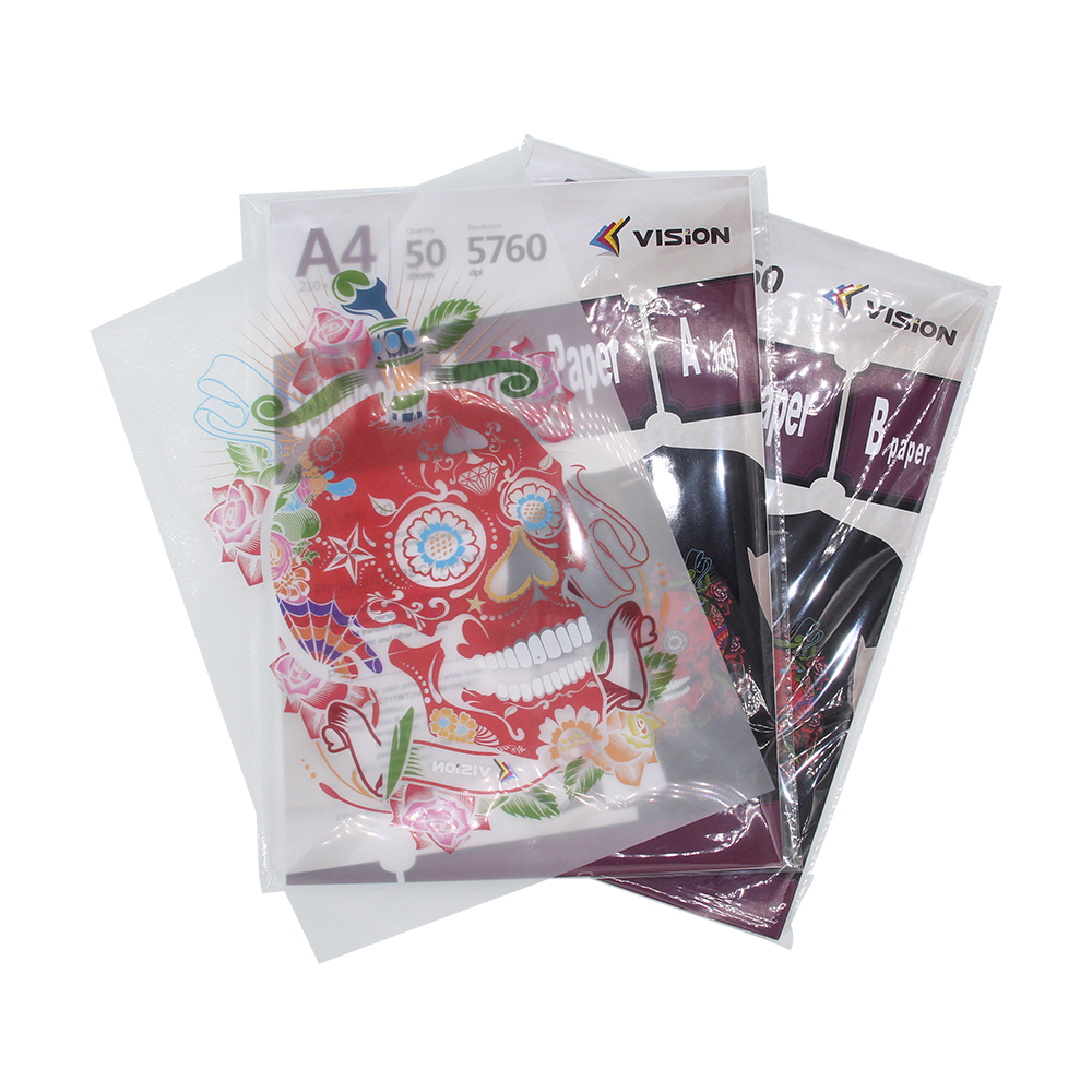 self-weeding (no cut ) laser dark  transfer paper