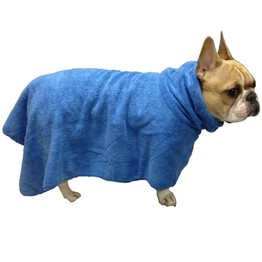 Custom print Wearable Microfiber bath towel for medium to large sized dogs /pet bath towel