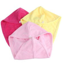 colorful micro fiber turban towel hair wrap towel