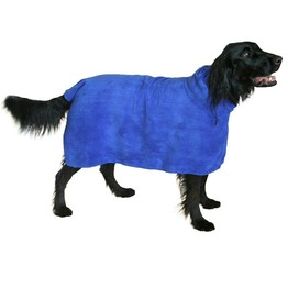 Super Absorbent and Quick Dry Wearable Microfiber bath towel for medium to large sized dogs pet bath towel