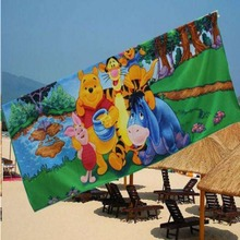 Colorful and comfortable microfiber digital printing kids cartoon beach towel