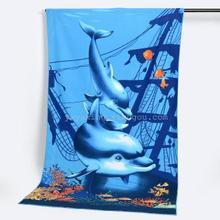 High Quality China Factory Direct Sales Cute Cartoon Beach Towel for Kids