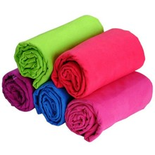 Quick dry solid color microfiber suede towel for sports and gym with promotional price