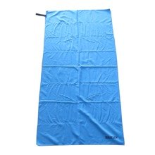 Add to CompareShare China sublimation blue microfiber beach towel with loop