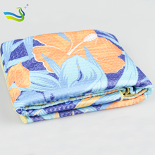 microfiber waffle beach towel for outdoors with customized logo printed