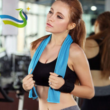 Custom CoolingTowel Best- Selling New-style Microfiber Cooling Sports Gym Yoga Towel in plastic bottle