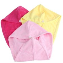 hot sale colorful micro fiber turban towel hair wrap towel