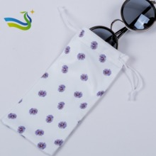 hot sale logo print sunglasses pouch use 1000% polyester
