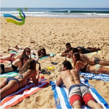 Super size 200* 90cm microfiber beach towel