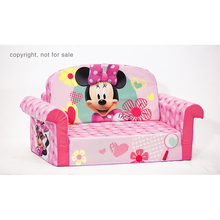 Customized fun furnitue cheap kids flip out sofa disney princess toddler sofa