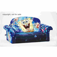 Living room cheap lovely cartoon colorful soft baby kids children mini sectional flip open sofa