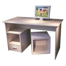 Factory wholesale quality modern office furniture computer desk big table and seat SZ173008