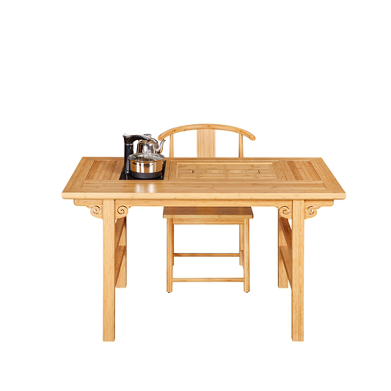 Bamboo Tea Table&Chairs Set Ruyi Style ZYZH 010